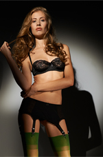 Black SHeer Garter Belt