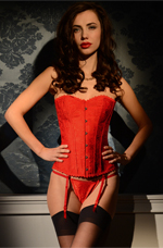 Red Paisley Corset