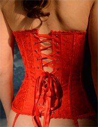 Back View Red Corset