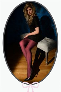 Burgundy Solid Opaque Tights