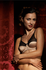 Gold Accented Satin Bra