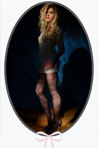 Paisley Patterned Tights