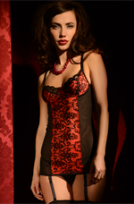 Red and Velvet Garter Dress