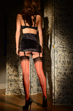 Red Seamed Stockings
