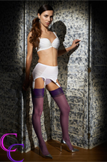 Purple Sandalfoot Stockings