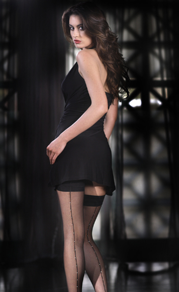 Rhinestone Back Thigh Highs, Sparkly Back Seam Stay Ups!: Stockings, Hosiery and Thigh Highs by Stockingirl, Nylon Stockings, Pantyhose Online