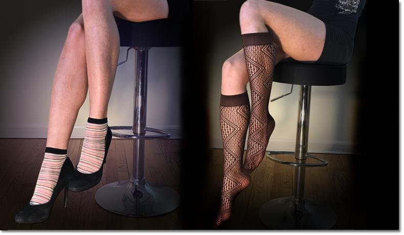 Ankle Socks, Knee Socks, Over the knee socks, crochet socks, argyle socks, sheer socks